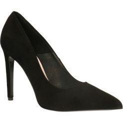 Czółenka INGRID. Czarne buty ślubne damskie Gino Rossi, ze skóry, na wysokim obcasie, na szpilce. Za 299,90 zł.