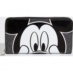 Portfel Mickey Mouse - Czarny. Czarne portfele damskie Sinsay, z motywem z bajki. Za 39,99 zł.