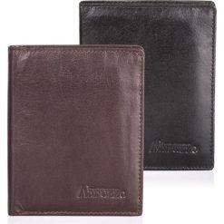 BRĄZOWY SKÓRZANY PORTFEL MĘSKI ABRUZZO SLIM. Czarne portfele męskie marki Abruzzo, ze skóry. Za 49,00 zł.