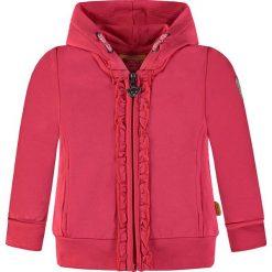 Bluza w kolorze różowym. Czerwone bluzy dziewczęce rozpinane marki Steiff, z aplikacjami. W wyprzedaży za 107,95 zł.
