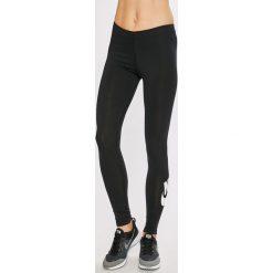 Nike - Legginsy. Czarne legginsy we wzory Nike, l, z bawełny. Za 119,90 zł.