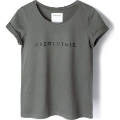 T-shirty damskie: T-shirt khaki ABSOLUTNIE.