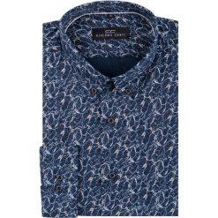 Koszula SIMONE KDWR000215. Czarne koszule męskie na spinki marki TOM TAILOR DENIM, l, z bawełny, button down, z długim rękawem. Za 199,00 zł.