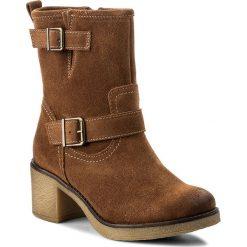Botki LASOCKI - 7440-04 Brązowy. Brązowe buty zimowe damskie Lasocki, ze skóry, na obcasie. W wyprzedaży za 115,00 zł.