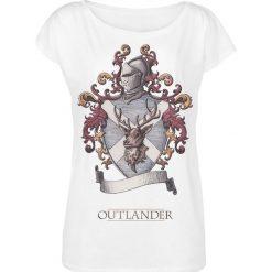 Outlander Lallybroch Koszulka damska biały. Białe bluzki nietoperze Outlander, l, z nadrukiem, z dekoltem w łódkę. Za 79,90 zł.