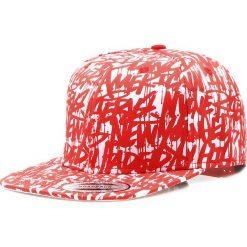 Czapka męska snapback biało-czerwona (hx0179). Białe czapki z daszkiem męskie Dstreet, z nadrukiem, eleganckie. Za 69,99 zł.