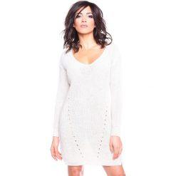 """Sukienki hiszpanki: Sukienka """"Ness"""" w kolorze beżowym"""