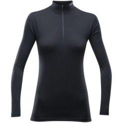 Devold Koszulka Damska Breeze Woman Half Zip Neck Black L. Czarne bluzki sportowe damskie Devold, l, z materiału, z długim rękawem. W wyprzedaży za 249,00 zł.