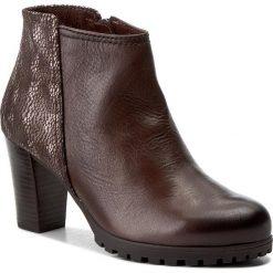 Botki CAPRICE - 9-25400-29 Dk Brown Multi 361. Brązowe buty zimowe damskie Caprice, ze skóry, na obcasie. W wyprzedaży za 239,00 zł.