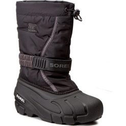 Buty: Śniegowce SOREL – Childrens Flurry NC1885 Black/City Grey 016