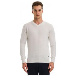 Swetry męskie: Galvanni Sweter Męski Wodonga Xl Kremowy