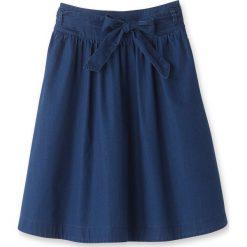 Spódniczki rozkloszowane: Dżinsowa spódnica z wiązaniem w talii
