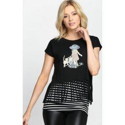 Bluzki damskie: Czarny T-shirt Crazy Night