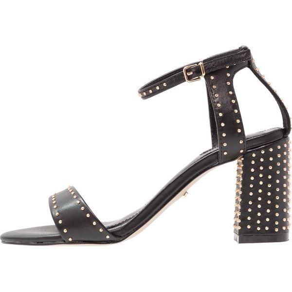 18aaa3a94625f Carvela GOGO Sandały black - Czarne sandały damskie Carvela, bez wzorów, ze  skóry ekologicznej, bez obcasa, bez zapięcia. Za 529,00 zł.