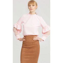 Różowa Bluzka Think Pink. Czerwone bluzki longsleeves other, uniwersalny. Za 69,99 zł.