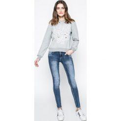 Answear - Bluza Blossom Mood. Szare bluzy z nadrukiem damskie ANSWEAR, l, z bawełny, bez kaptura. W wyprzedaży za 49,90 zł.