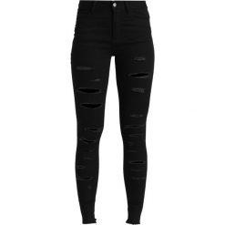 Boyfriendy damskie: Even&Odd Jeans Skinny Fit black denim