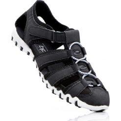 Sandały bonprix oliwkowy. Szare buty sportowe damskie marki bonprix, z materiału. Za 54,99 zł.