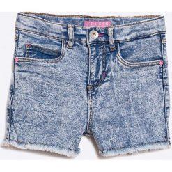 Guess Jeans - Szorty dziecięce 118-166 cm. Niebieskie szorty damskie z printem Guess Jeans, z bawełny, casualowe. W wyprzedaży za 119,90 zł.