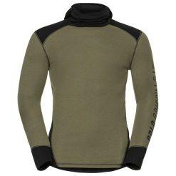 Odlo Koszulka tech. Odlo Shirt l/s with Facemask WARM Revelstoke  - 150642 - 150642/60114/L. Szare t-shirty męskie Odlo, l. Za 215,29 zł.