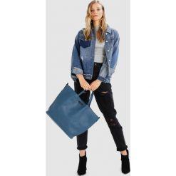 Topshop SELINA SOFT Torba na zakupy blue. Niebieskie torebki klasyczne damskie Topshop. Za 139,00 zł.