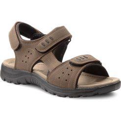 Sandały LANETTI - MS17008-1 Khaki. Brązowe sandały męskie skórzane marki Lanetti. W wyprzedaży za 59,99 zł.