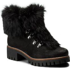 Botki EVA MINGE - Raquel 2P 17BD1372205EF 401. Czarne buty zimowe damskie Eva Minge, z materiału, na obcasie. W wyprzedaży za 329,00 zł.