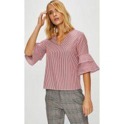 Trendyol - Bluzka. Szare bluzki z odkrytymi ramionami marki Trendyol, z bawełny, z okrągłym kołnierzem. W wyprzedaży za 59,90 zł.