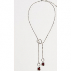 Naszyjnik z kryształkami - Czerwony. Czerwone naszyjniki damskie marki Mohito. Za 39,99 zł.