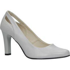Szare czółenka na słupku z wycięciem na pięcie Casu 3069. Czerwone buty ślubne damskie marki Casu, na słupku. Za 78,99 zł.