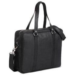 Skórzana miejska torba na ramię czarna. Czarne torby na ramię męskie Brødrene, ze skóry. Za 350,00 zł.