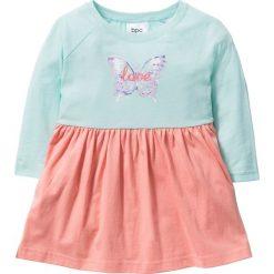 Sukienki dziewczęce: Sukienka bonprix pastelowy miętowy – jasny koralowy