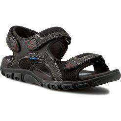 Sandały GEOX - U S.Strada Wf C U6224C 0AU50 C9999  Czarny. Czarne sandały męskie skórzane Geox. W wyprzedaży za 229,00 zł.