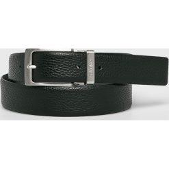 Calvin Klein - Pasek skórzany. Czarne paski męskie marki Calvin Klein, w paski, z materiału. Za 249,90 zł.