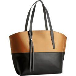 Torebka CREOLE - K10193 Czarny/Średni Brąz. Brązowe torebki klasyczne damskie Creole, ze skóry. W wyprzedaży za 249,00 zł.