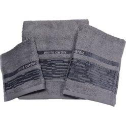 Kąpielówki męskie: 3-częściowy zestaw ręczników w kolorze szarym