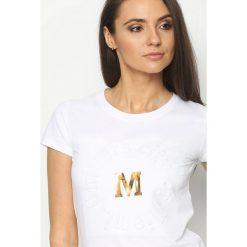 Biały T-shirt Madam Lady Chic. Białe t-shirty damskie marki Born2be, l. Za 34,99 zł.