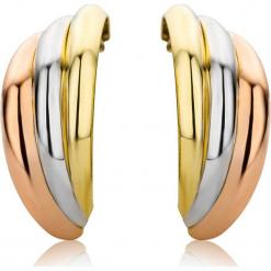 Złote kolczyki-wkrętki. Szare kolczyki damskie REVONI, złote. W wyprzedaży za 345,95 zł.