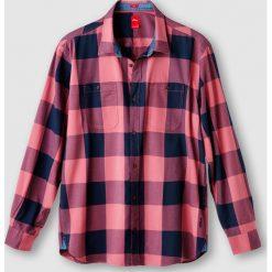 Koszula z długim rękawem. Szare koszule męskie na spinki marki Ombre Clothing, m, z nadrukiem, z bawełny, ze stójką. Za 173,21 zł.