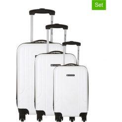 Walizki: Zestaw walizek w kolorze białym – 3 szt.