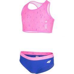 Stroje jednoczęściowe dziewczęce: Kostium kąpielowy dla małych dziewczynek JKOS103 – różowy