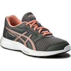Buty ASICS - Stormer 2 Gs C811N Carbon/Begonia Pink/White 9706. Szare buty do biegania damskie Asics, z materiału. W wyprzedaży za 139,00 zł.