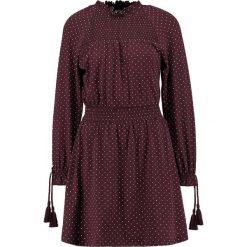 Sukienki hiszpanki: Topshop SPOT SHIRRED WAIST MINI Sukienka z dżerseju ox blood