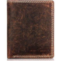 Brązowy PORTFEL MĘSKI ze skóry z ochroną KART RFID. Brązowe portfele męskie BLUE & BURRY, ze skóry. Za 99,00 zł.