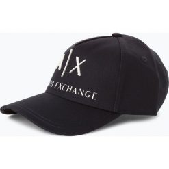 Armani Exchange - Męska czapka z daszkiem, niebieski. Czarne czapki z daszkiem męskie marki Armani Exchange, l, z materiału, z kapturem. Za 199,95 zł.