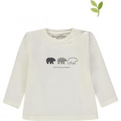 Koszulka w kolorze białym. Białe t-shirty chłopięce z długim rękawem bellybutton, z nadrukiem, z bawełny. W wyprzedaży za 35,95 zł.