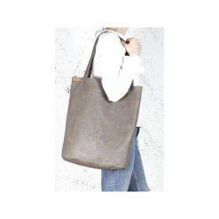Shopper bag XL brązowa klasyczna torba na zamek Vegan. Brązowe shopper bag damskie Hairoo, w paski. Za 155,00 zł.
