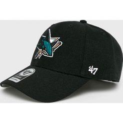 47brand - Czapka San Jose Sharks. Czarne czapki z daszkiem męskie 47brand. Za 89,90 zł.