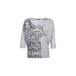 Swetry Desigual  NISSA. Szare swetry klasyczne damskie marki Desigual, l, z tkaniny, casualowe, z długim rękawem. Za 259,00 zł.