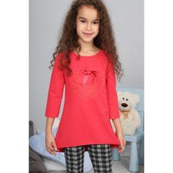 T-shirty dziewczęce: Koralowa Bluzka z Kokardą NDZ7574